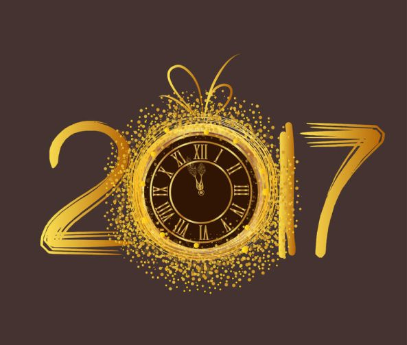 58174126 - happy new year 2017 - old clock