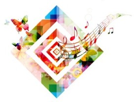 43199921 - colorful music background